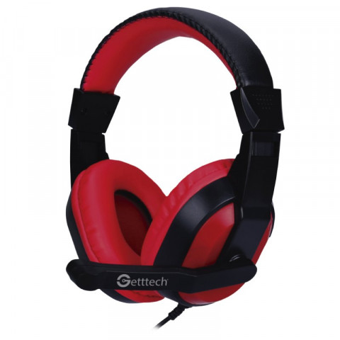 Headset Getttech GH-2100 Stream, 3.5mm, with microphone, black & red