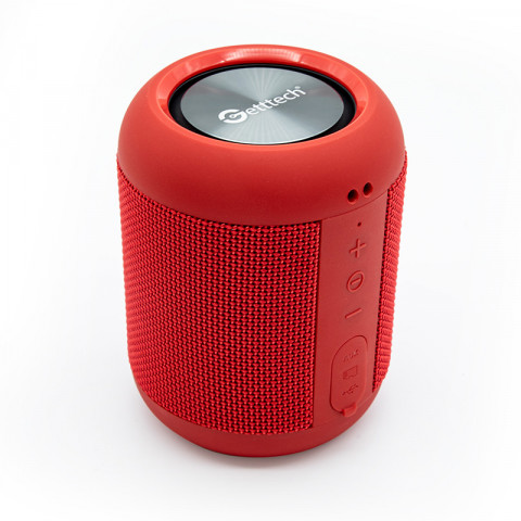 Portable speaker Getttech  GAL-31502R Loud, bluetooth 4.2,  3.5 mm, slot  micro SD, red