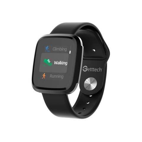 "Smart watch Getttech Instant Pantalla tactil 1.3"" IPS, 128Kb ram, 128Mb rom, Bt 5.0, IP68, notificaciones Negro (GRI-25701)"