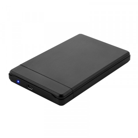Getttech 2.5-Inch SATA to USB 2.0 Hard Disk Drive Enclosure, am-Micro b, Black (EN2512)