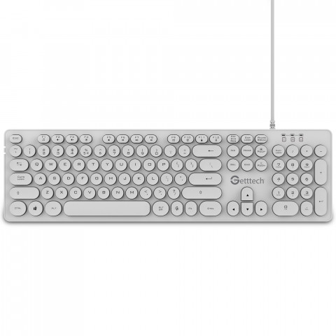 Getttech Teclado Backlit Ignite, White - Modelo: GTI-28201B