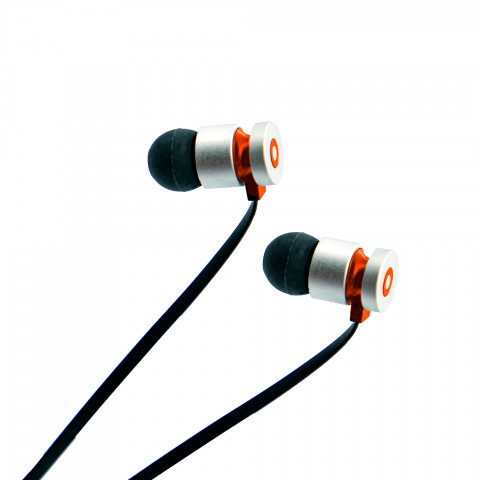 Earphones Getttech MI-1220R Soft with microphone, black & red, 3.5 mm