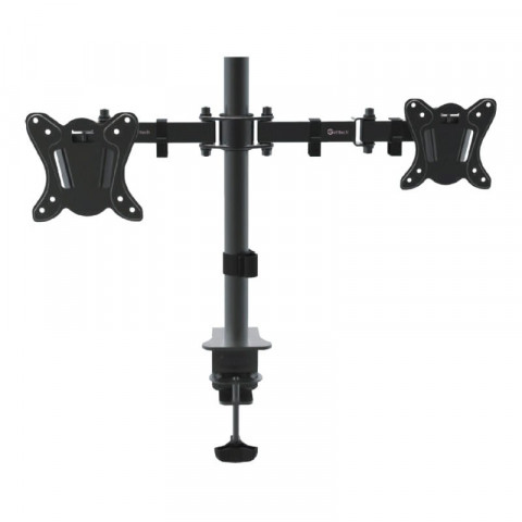 GETTTECH SCREEN MOUNT FOR 2 SCREENS FOR 10-30 INCH TV/SCREEN ARTICULATED ARM UP TO 22 LB / BLACK (TW-1404)